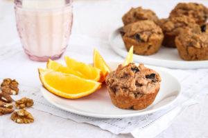 Celozrnné perníkové muffiny