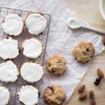 Ovesné sušenky s mandlemi a brusinkami