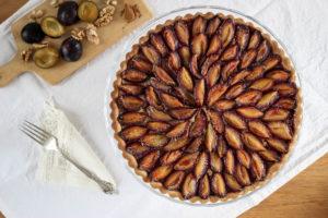 Švestkový koláč s vlašskými ořechy
