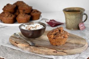 Banánovo-datlové muffiny s vlašskými ořechy