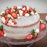 Jahodový dort s kokosovým krémem